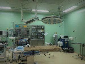 手術開始と手術室